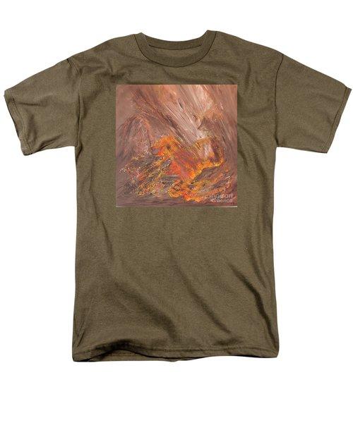 Living Earth-kneeling Buddha Men's T-Shirt  (Regular Fit) by Susan  Dimitrakopoulos