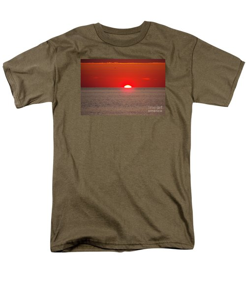 Lobster Pots Dance In The Sea  At Sunrise Men's T-Shirt  (Regular Fit) by Eunice Miller