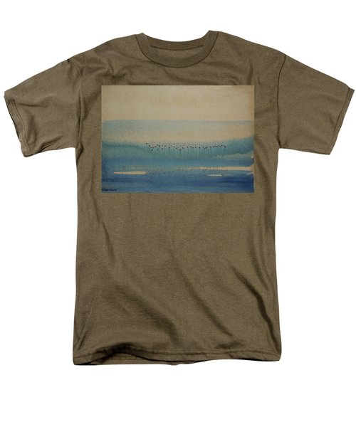 Men's T-Shirt  (Regular Fit) featuring the painting Loch Of My Heart by Mini Arora