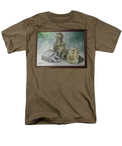 Men's T-Shirt  (Regular Fit) featuring the painting Locked And Anchored by Mary Ellen Anderson