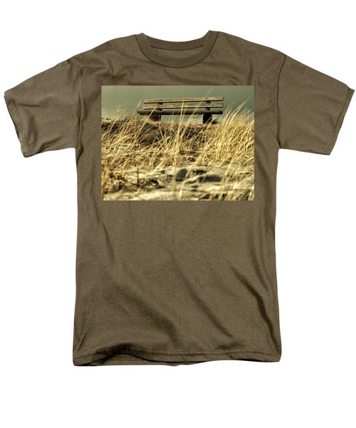 Lonely Bench Men's T-Shirt  (Regular Fit) by Mike Santis