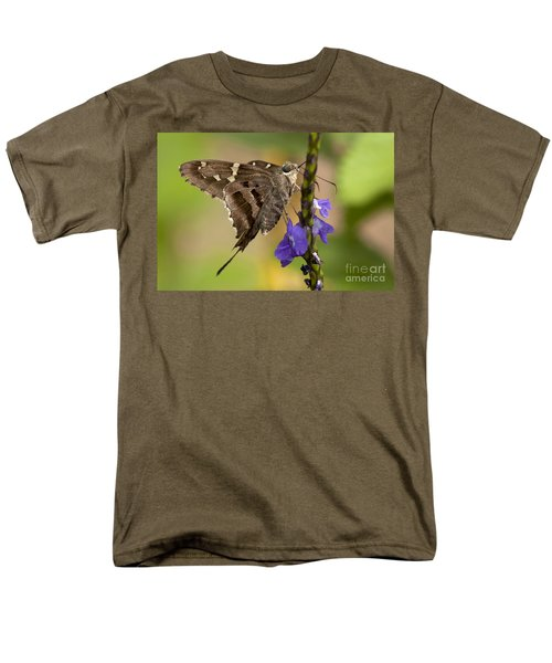 Men's T-Shirt  (Regular Fit) featuring the photograph Long-tailed Skipper Photo by Meg Rousher
