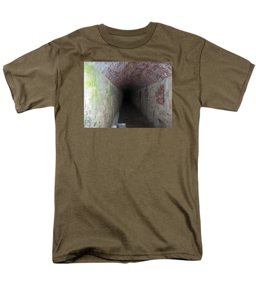 long tunnel in Ft Adams Men's T-Shirt  (Regular Fit) by Catherine Gagne