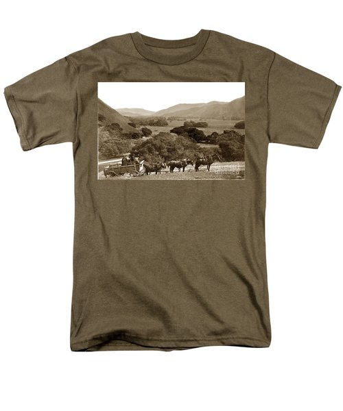 Looking Up The Carmel Valley California Circa 1880 Men's T-Shirt  (Regular Fit) by California Views Mr Pat Hathaway Archives