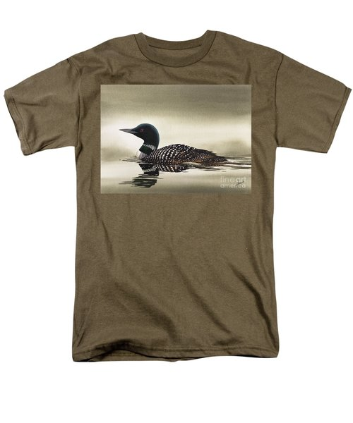 Loon In Still Waters Men's T-Shirt  (Regular Fit) by James Williamson