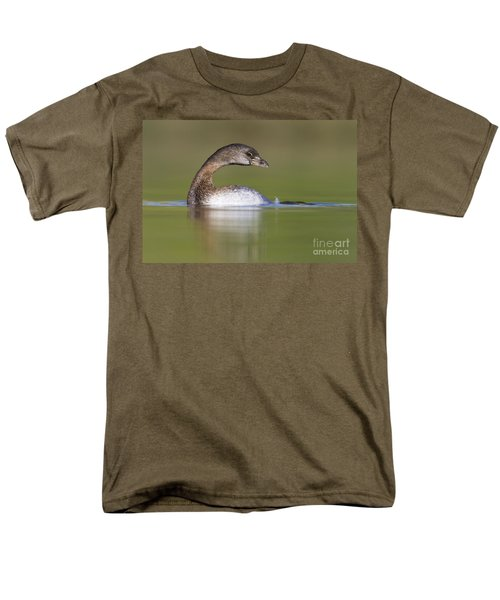 Men's T-Shirt  (Regular Fit) featuring the photograph Loss-neck Grebe by Bryan Keil