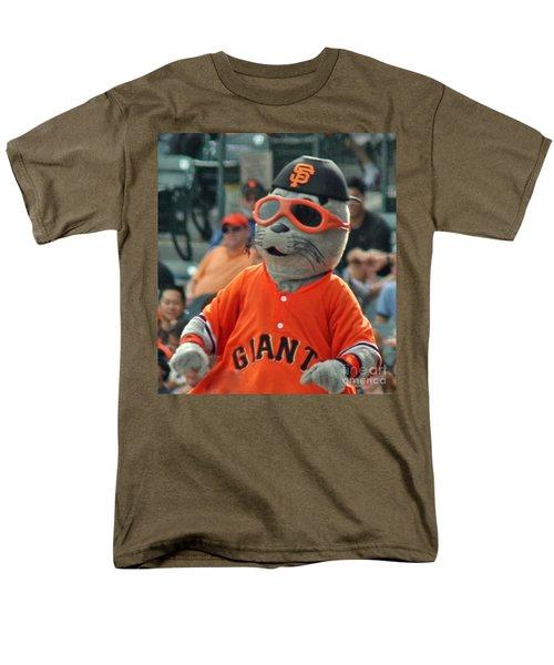 Lou Seal San Francisco Giants Mascot Men's T-Shirt  (Regular Fit)