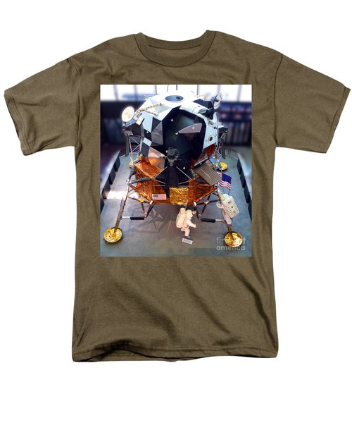 Lunar Module Men's T-Shirt  (Regular Fit) by Kevin Fortier