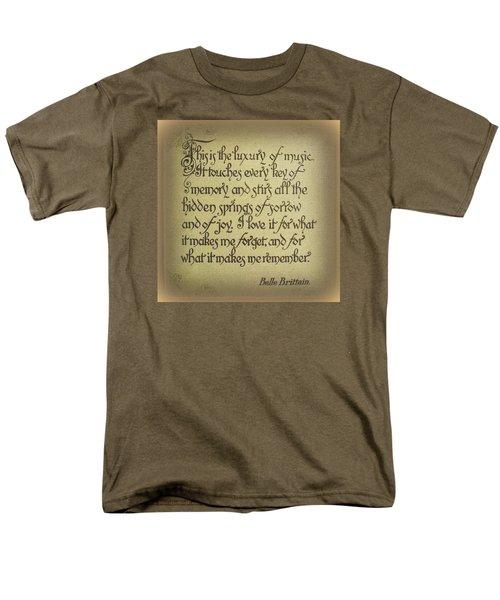 Luxury Of Music Men's T-Shirt  (Regular Fit)