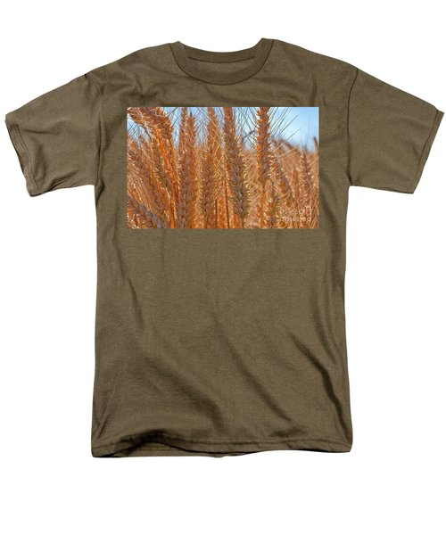 Men's T-Shirt  (Regular Fit) featuring the photograph Macro Of Wheat Art Prints by Valerie Garner