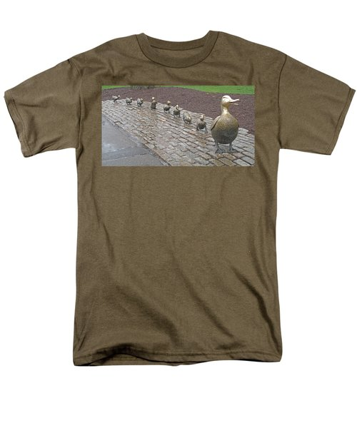 Men's T-Shirt  (Regular Fit) featuring the photograph Make Way For Ducklings by Barbara McDevitt