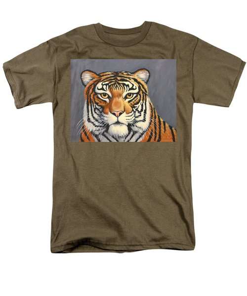 Men's T-Shirt  (Regular Fit) featuring the painting Malayan Tiger Portrait by Penny Birch-Williams