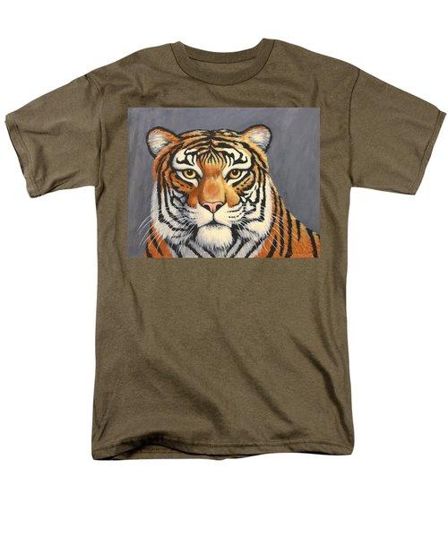 Malayan Tiger Portrait Men's T-Shirt  (Regular Fit) by Penny Birch-Williams