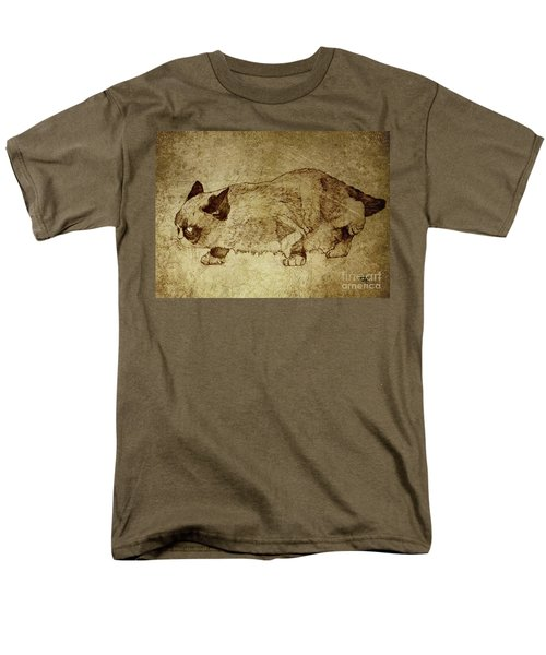Male Cat Hunts At Night Men's T-Shirt  (Regular Fit) by Daniel Yakubovich
