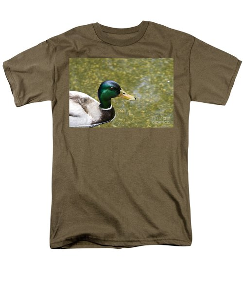 Mallard Duck Closeup Men's T-Shirt  (Regular Fit) by David Millenheft