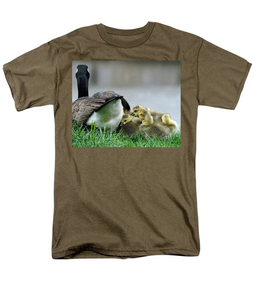 Mama And Goslings Men's T-Shirt  (Regular Fit) by Lisa Phillips