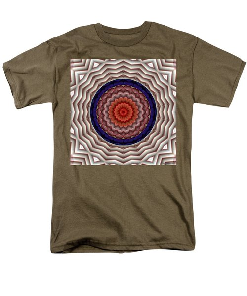 Men's T-Shirt  (Regular Fit) featuring the digital art Mandala 10 by Terry Reynoldson