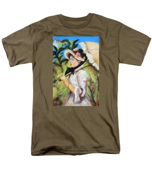 Manet Woman With Parasol Men's T-Shirt  (Regular Fit) by Melinda Saminski