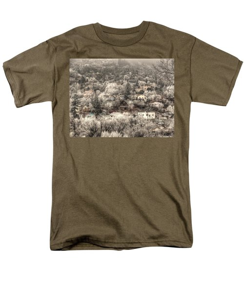 Men's T-Shirt  (Regular Fit) featuring the photograph Manitou To The South In Snow Close Up by Lanita Williams