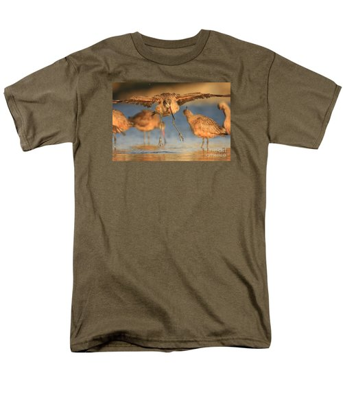 Men's T-Shirt  (Regular Fit) featuring the photograph Marbled Godwit  by John F Tsumas