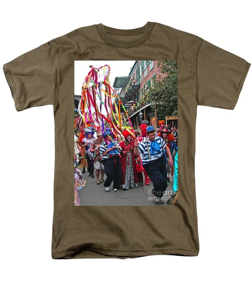 Men's T-Shirt  (Regular Fit) featuring the photograph Mardi Gras In New Orleans by Luana K Perez