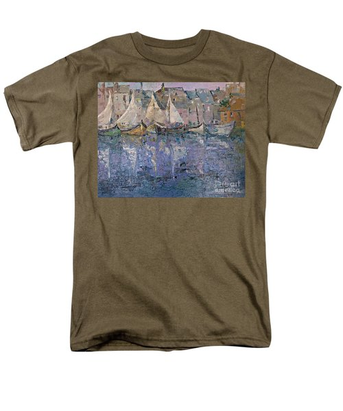 Men's T-Shirt  (Regular Fit) featuring the painting Marina by AmaS Art