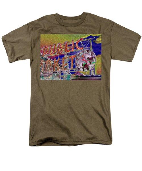 Market Clock 1 Men's T-Shirt  (Regular Fit) by Tim Allen