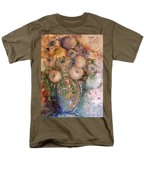 Men's T-Shirt  (Regular Fit) featuring the painting Marshmallow Flowers by Laurie L