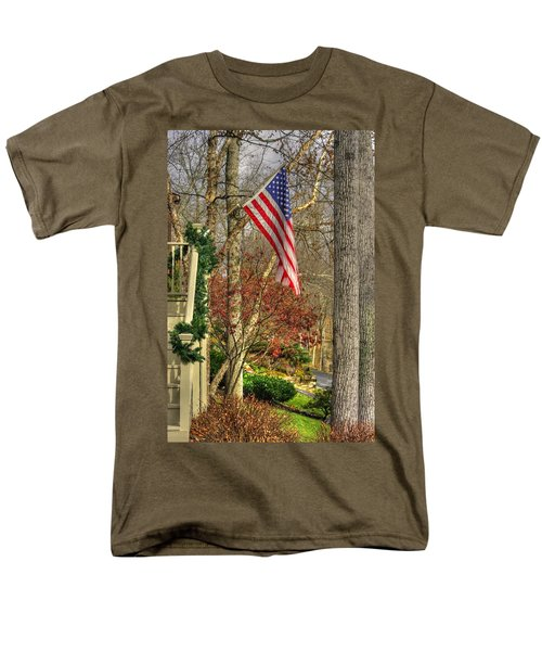 Maryland Country Roads - Flying The Colors 1a Men's T-Shirt  (Regular Fit) by Michael Mazaika
