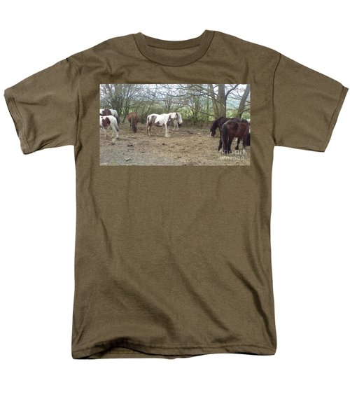 Men's T-Shirt  (Regular Fit) featuring the photograph May Hill Ponies 1 by John Williams