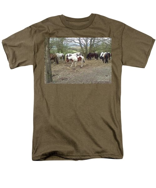 Men's T-Shirt  (Regular Fit) featuring the photograph May Hill Ponies 2 by John Williams