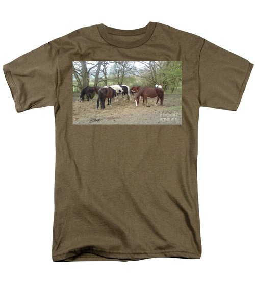Men's T-Shirt  (Regular Fit) featuring the photograph May Hill Ponies 3 by John Williams