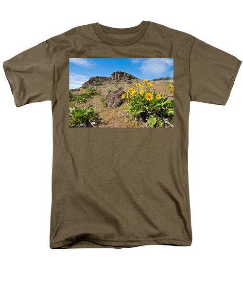 Men's T-Shirt  (Regular Fit) featuring the photograph Meadow Of Arrowleaf Balsamroot by Jeff Goulden