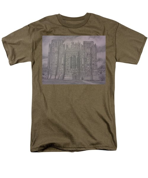 Medieval Cathedral Men's T-Shirt  (Regular Fit) by Christy Saunders Church