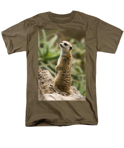 Men's T-Shirt  (Regular Fit) featuring the photograph Meerkat Mongoose Portrait by David Millenheft
