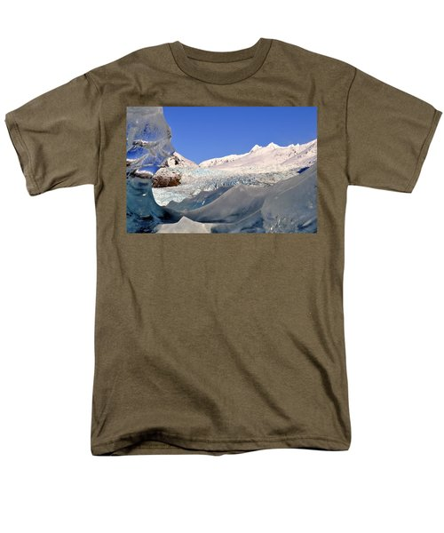 Men's T-Shirt  (Regular Fit) featuring the photograph Mendenhall Glacier Refraction by Cathy Mahnke