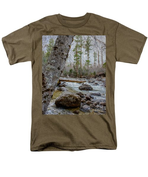 Merced River From Happy Isles Men's T-Shirt  (Regular Fit) by Terry Garvin