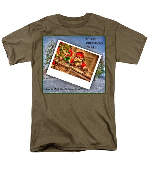 Merry Christmas Men's T-Shirt  (Regular Fit) by Dan Stone