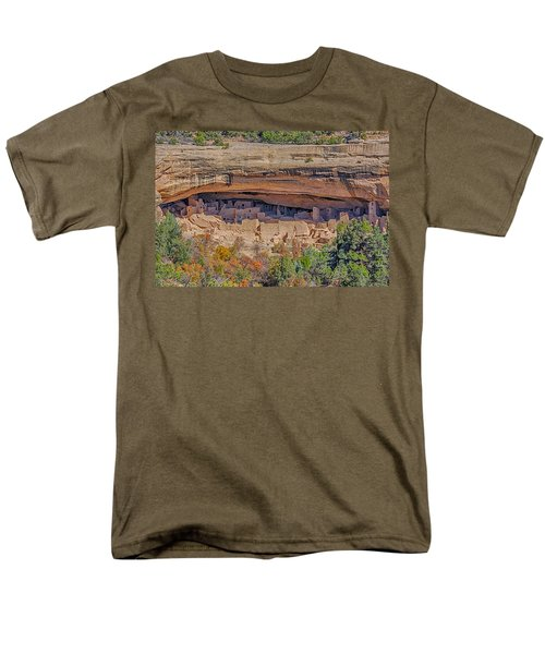 Mesa Verde Cliff Dwelling Men's T-Shirt  (Regular Fit) by Paul Freidlund