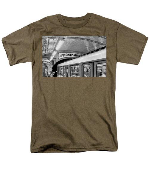 Men's T-Shirt  (Regular Fit) featuring the photograph Metro At Montmartre. Paris by Jennie Breeze