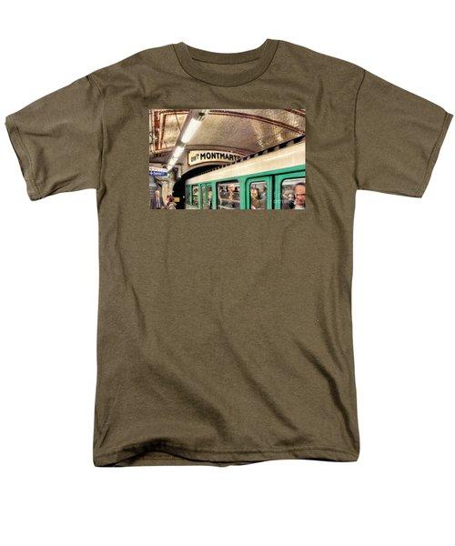 Men's T-Shirt  (Regular Fit) featuring the photograph Metro To Montmartre. Paris   by Jennie Breeze
