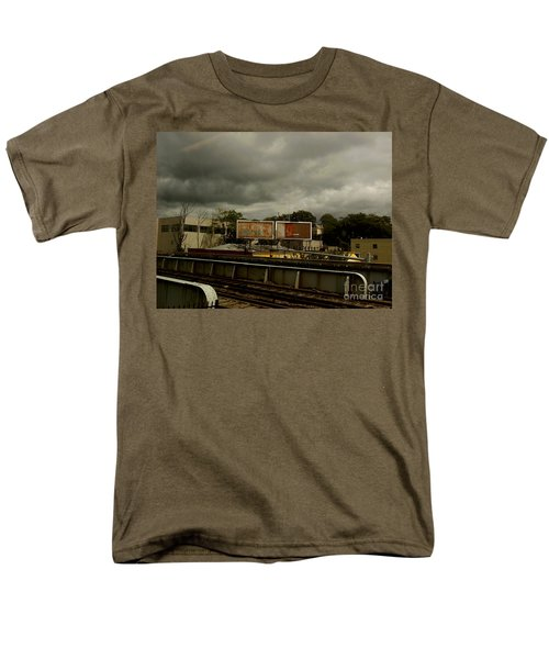 Men's T-Shirt  (Regular Fit) featuring the photograph Metropolitan Transit by Miriam Danar