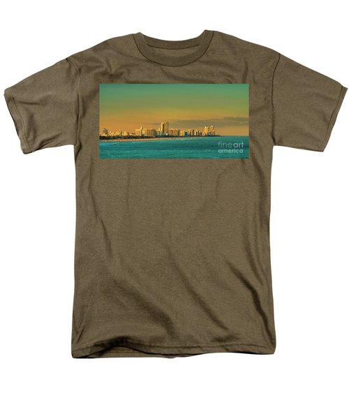Miami Sunset Men's T-Shirt  (Regular Fit) by Olga Hamilton