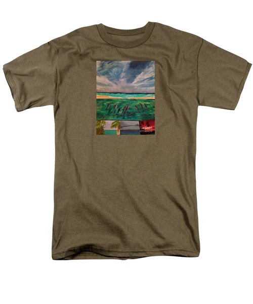 Men's T-Shirt  (Regular Fit) featuring the painting Delfin by Vanessa Palomino
