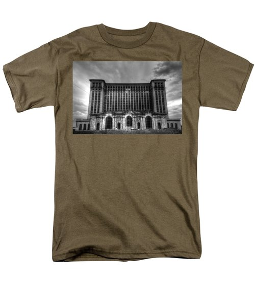 Michigan Central Station Bw Men's T-Shirt  (Regular Fit) by Jonathan Davison