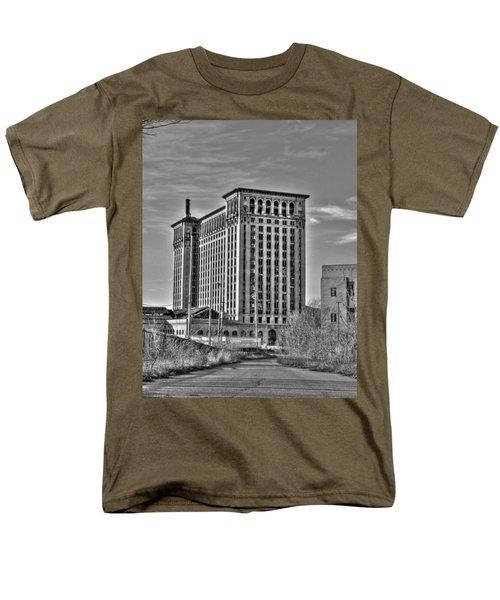Michigan Central Station Men's T-Shirt  (Regular Fit) by Nicholas  Grunas