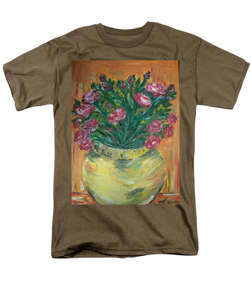Men's T-Shirt  (Regular Fit) featuring the painting Mini Roses by Teresa White