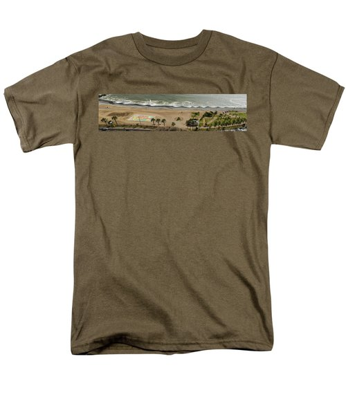 Miraflores Beach Panorama Men's T-Shirt  (Regular Fit) by Allen Sheffield