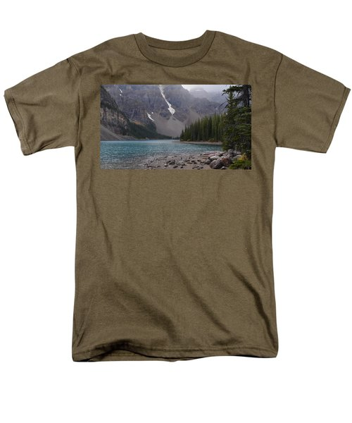 Mist Over Lake Moraine Men's T-Shirt  (Regular Fit) by Cheryl Miller