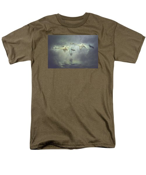 Men's T-Shirt  (Regular Fit) featuring the photograph Misty Moon Shadows by Brian Tarr